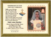 First Holy Communion  Gift - Photomount