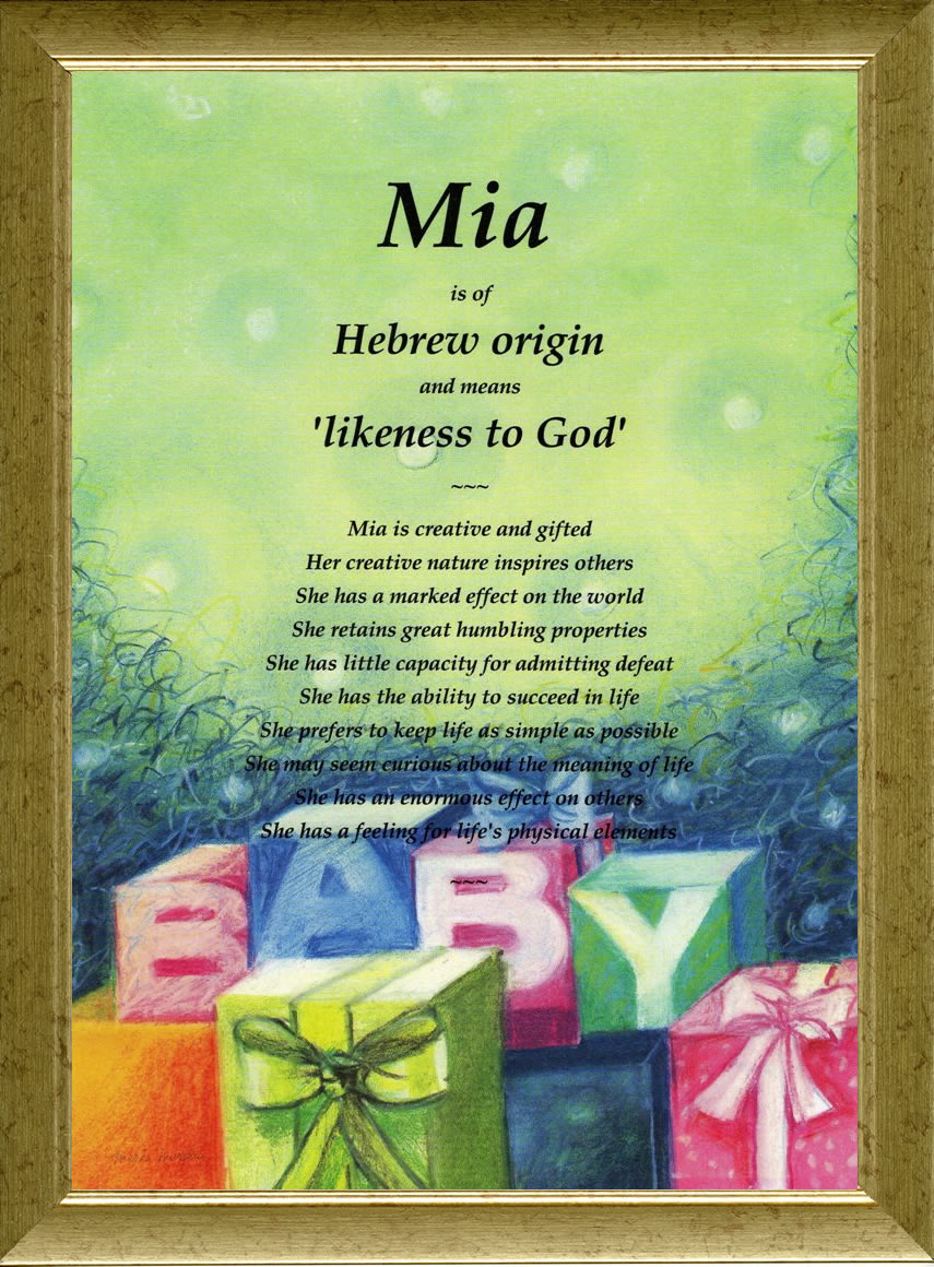 Plaques with name meanings - Baby Blocks