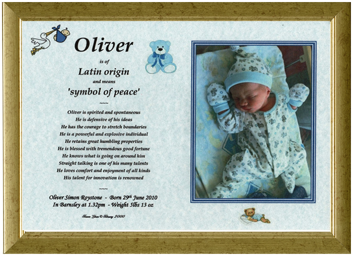 Looking for unique personalised new born baby gift ideas youve first name origin gift boy negle Gallery