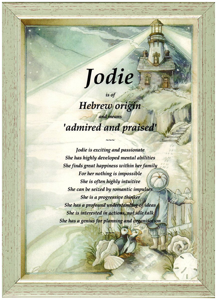 First Name Meaning Jodie Lighthouse